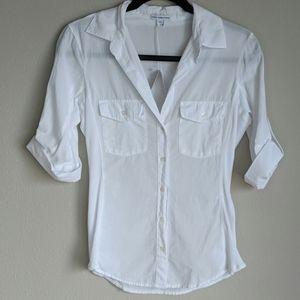 NWT Standard James Perse White Cotton Button Down